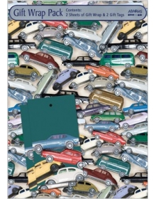 Gift Wrap Pack - Toy Cars (2 sheets and 2 tags)