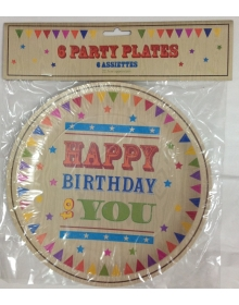 Birthday Plates (6 pack)