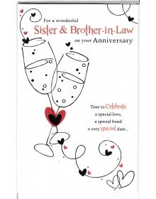 Hermana /& brother-in-Law Boda Tarjeta a una hermana especial /& brother-in-law.